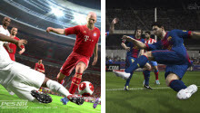 FIFA 14 vs. PES 2014 (screenshots)